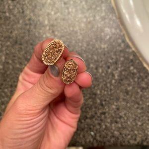 Kendra Scott rose gold earrings. Never worn.